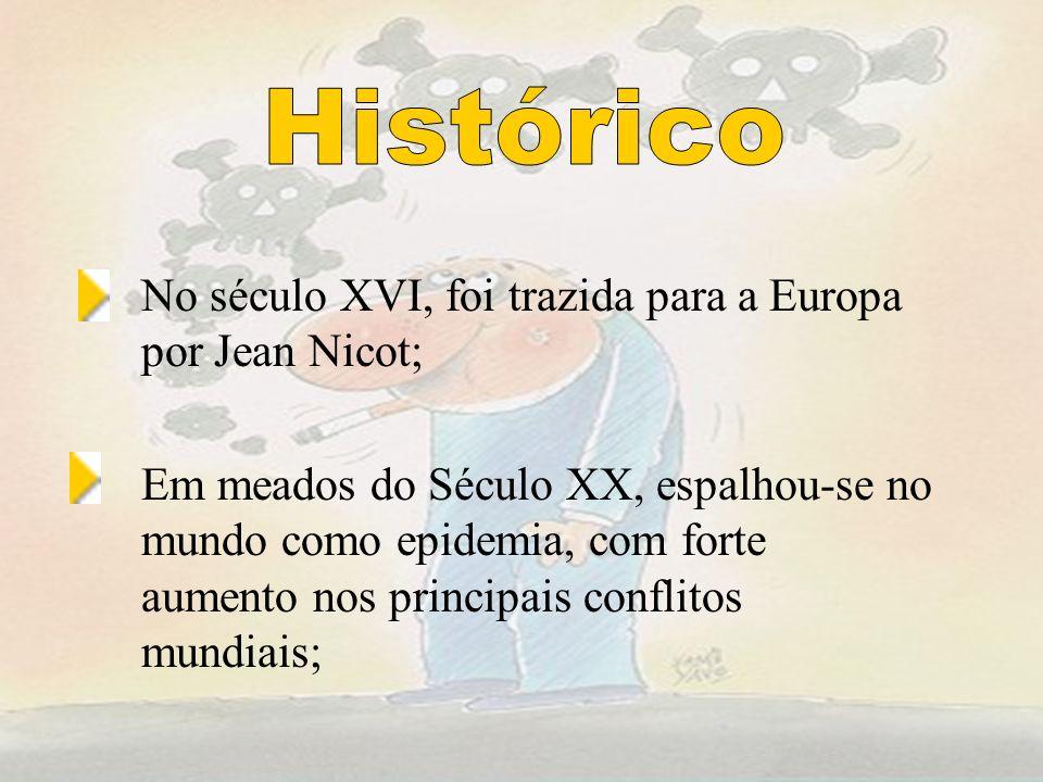 Histórico No século XVI, foi trazida para a Europa por Jean Nicot;