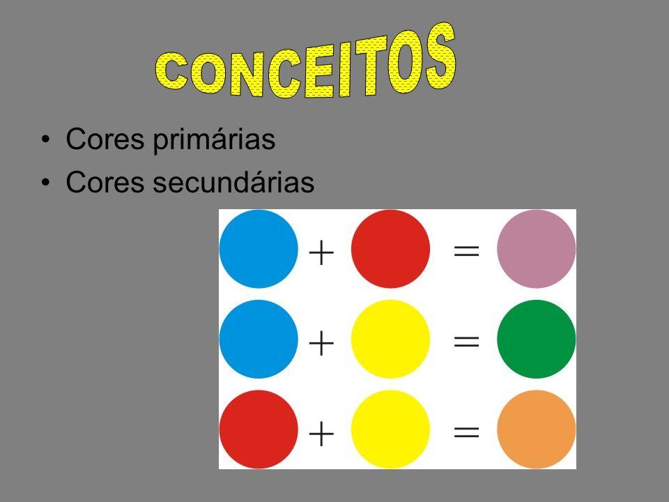 CONCEITOS Cores primárias Cores secundárias