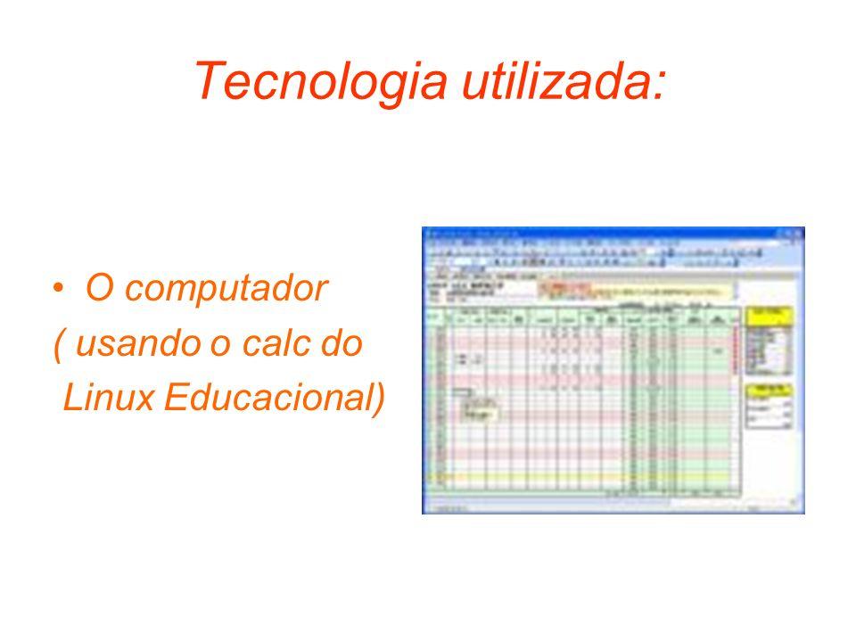 Tecnologia utilizada: