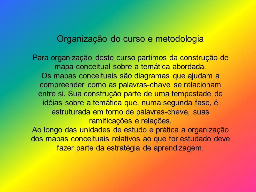 Organização do curso e metodologia