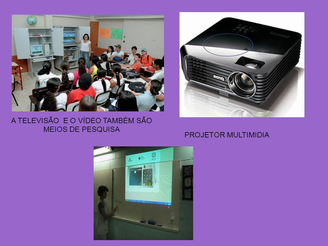 A TELEVISÃO E O VÍDEO TAMBÉM SÃO MEIOS DE PESQUISA