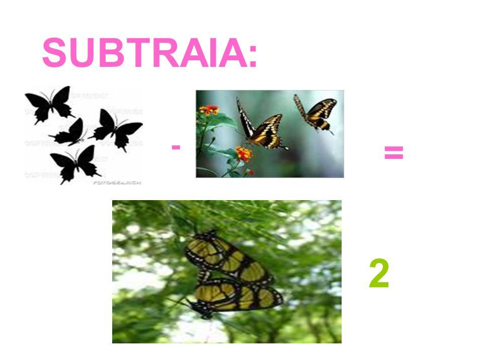 SUBTRAIA: - = 2