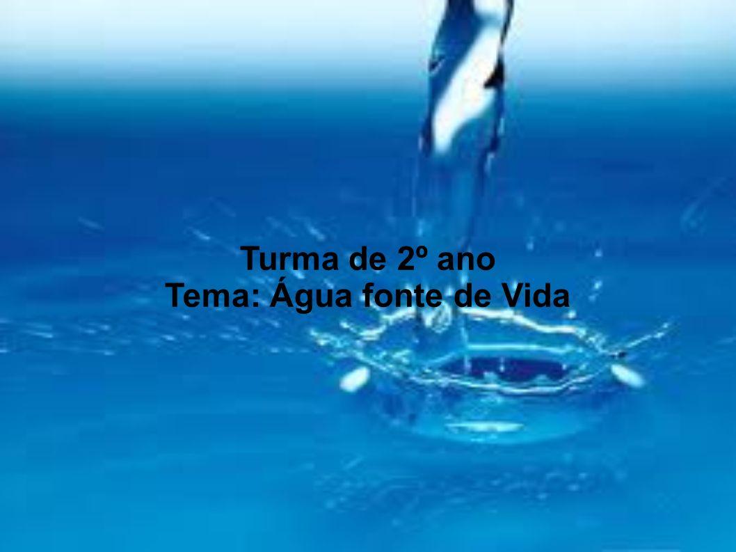 Tema: Água fonte de Vida