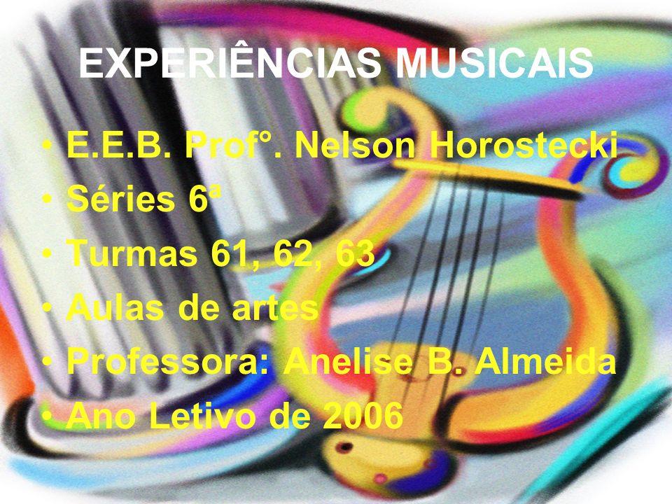EXPERIÊNCIAS MUSICAIS