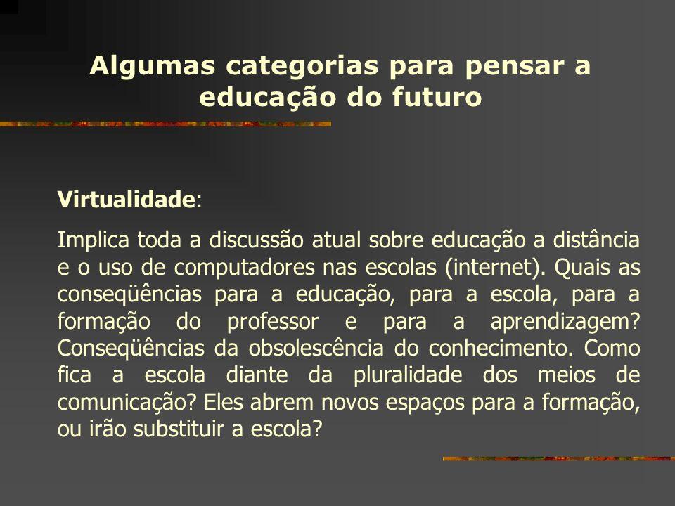 Algumas categorias para pensar a educação do futuro