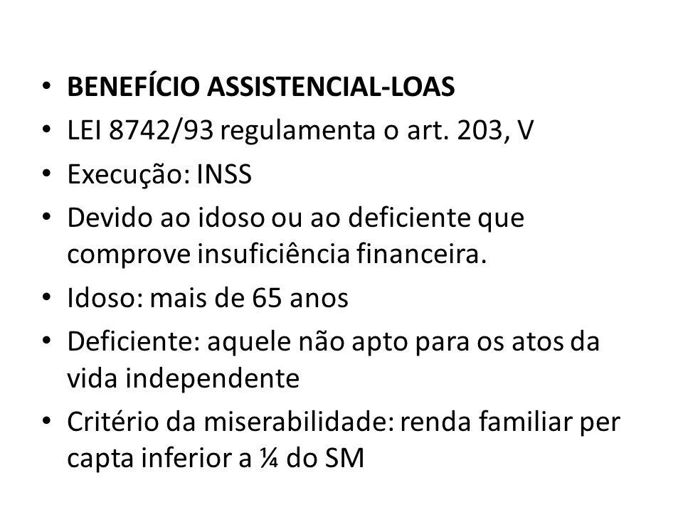 BENEFÍCIO ASSISTENCIAL-LOAS
