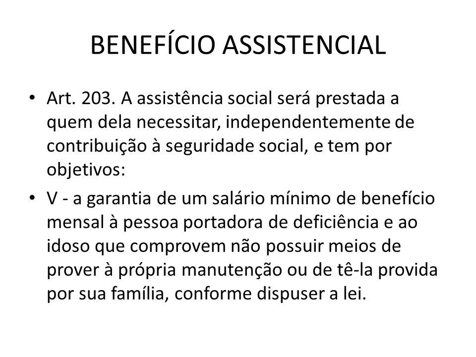 BENEFÍCIO ASSISTENCIAL