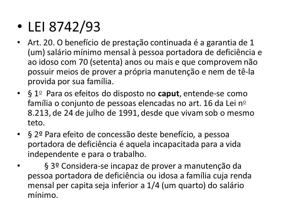 LEI 8742/93