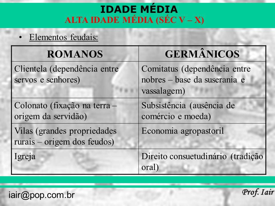 ROMANOS GERMÂNICOS Elementos feudais: