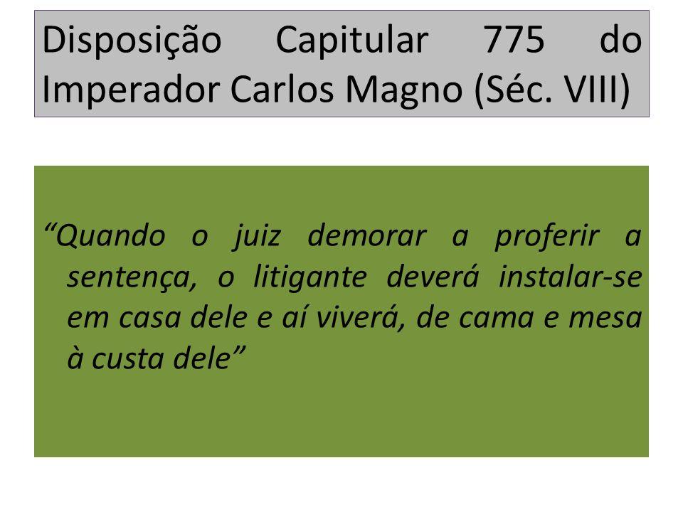 Disposição Capitular 775 do Imperador Carlos Magno (Séc. VIII)