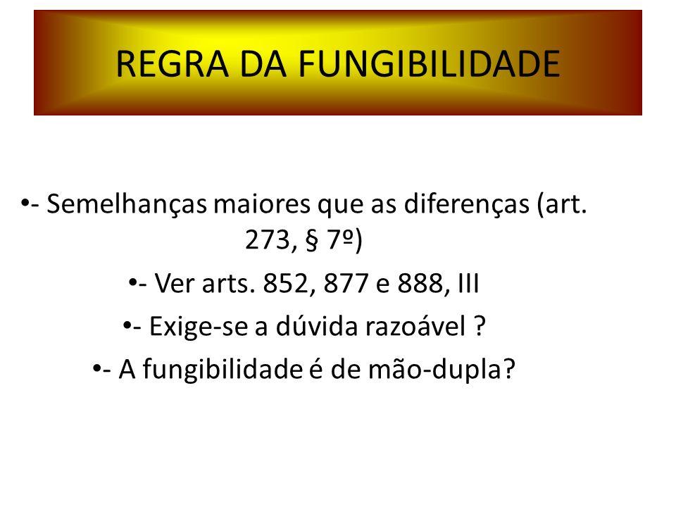 REGRA DA FUNGIBILIDADE