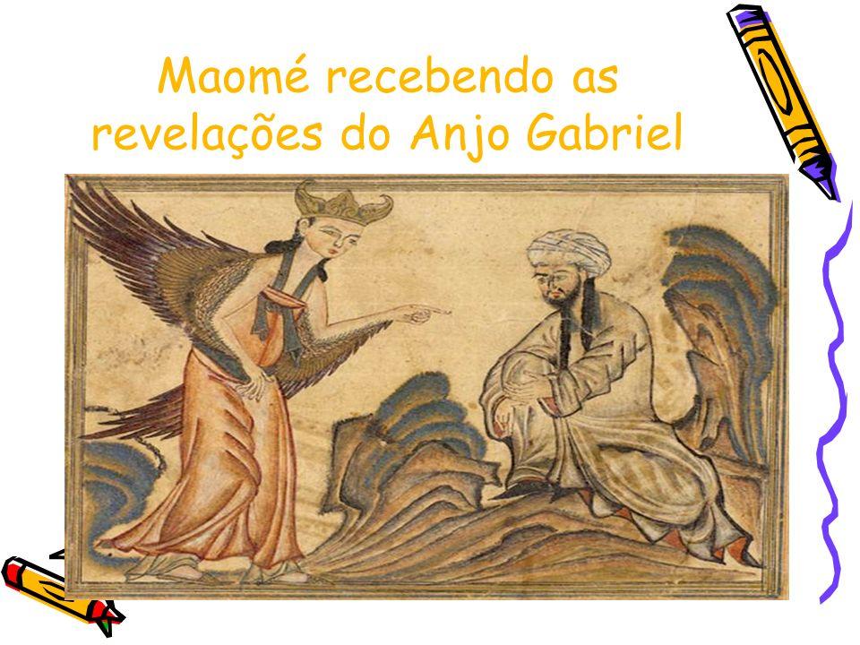 Maomé recebendo as revelações do Anjo Gabriel