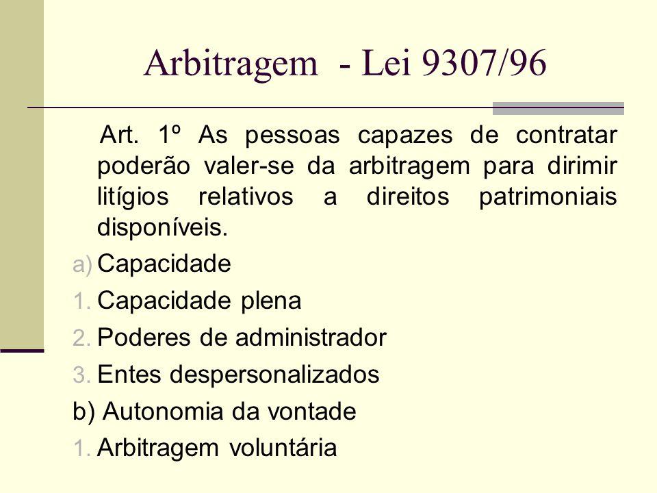 Arbitragem - Lei 9307/96