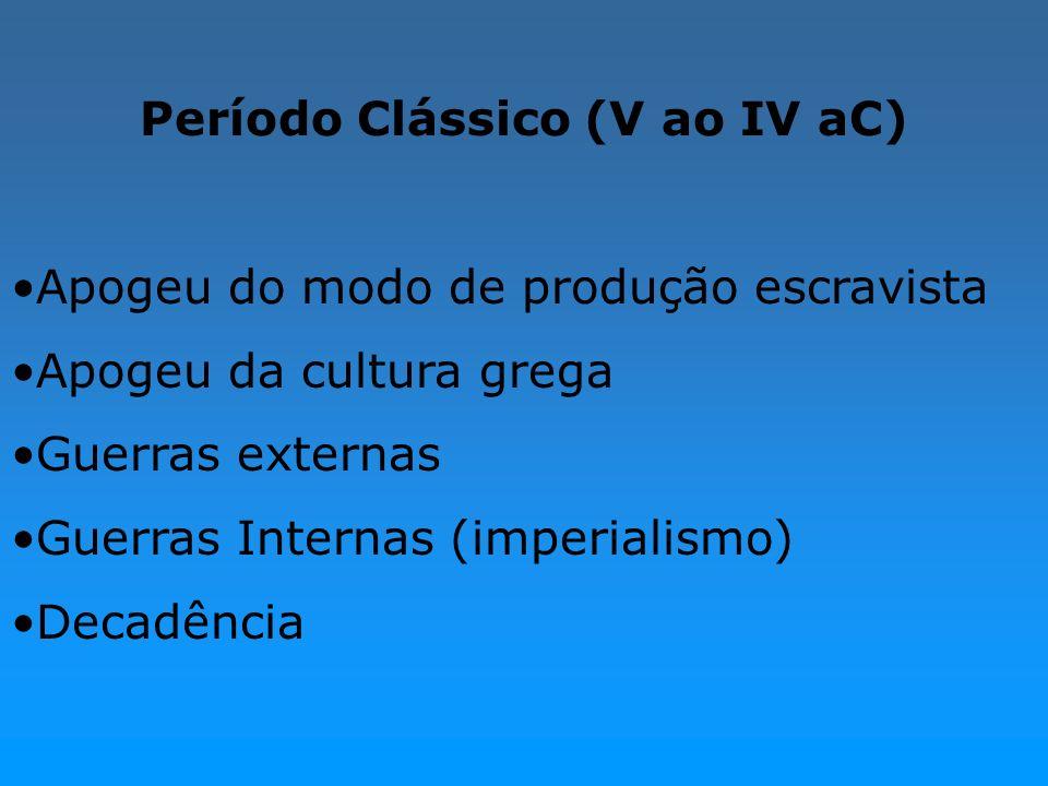 Período Clássico (V ao IV aC)