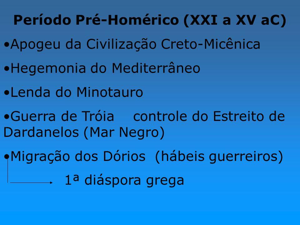 Período Pré-Homérico (XXI a XV aC)