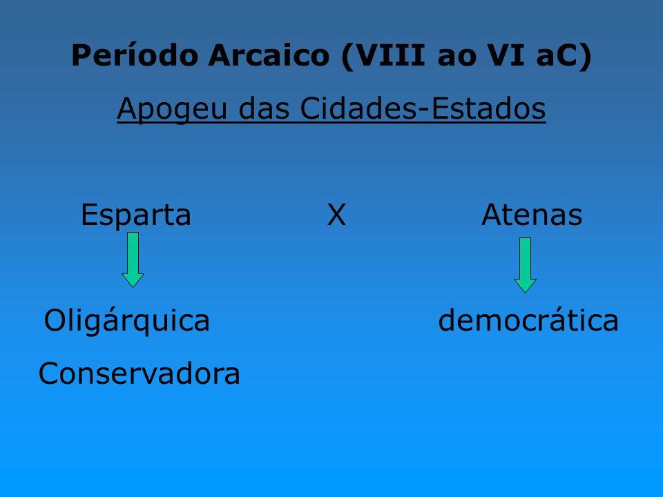 Período Arcaico (VIII ao VI aC)