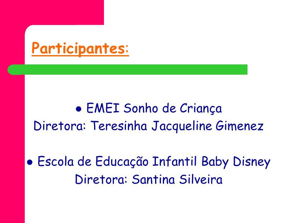 Participantes: EMEI Sonho de Criança