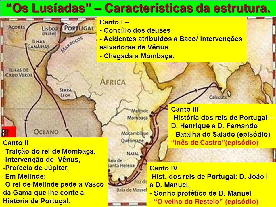 Os Lusíadas – Características da estrutura.
