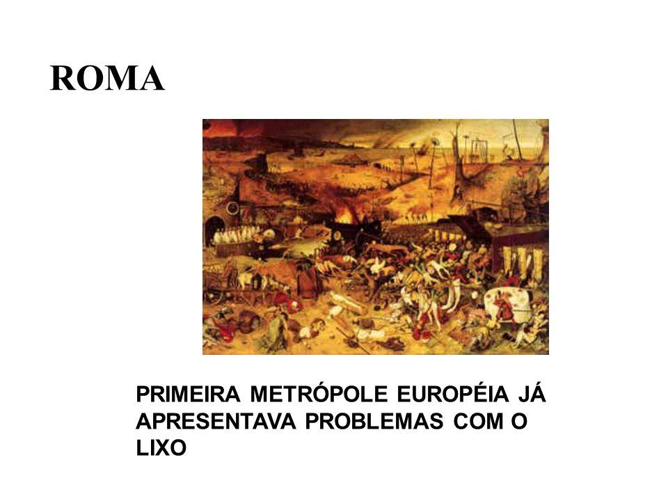 ROMA PRIMEIRA METRÓPOLE EUROPÉIA JÁ APRESENTAVA PROBLEMAS COM O LIXO