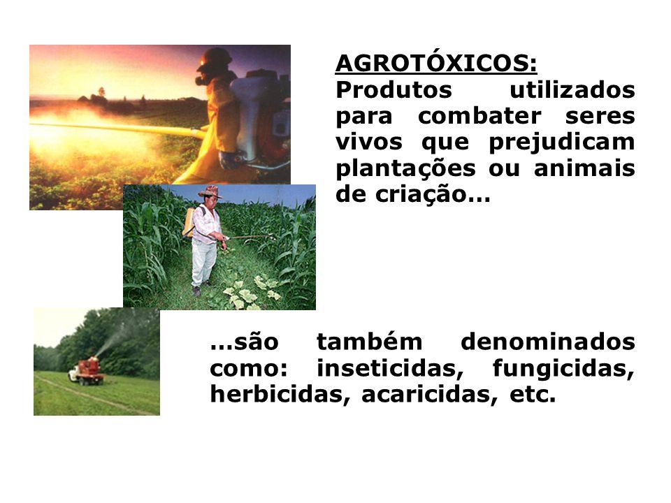 AGROTÓXICOS: Produtos utilizados para combater seres vivos que prejudicam plantações ou animais de criação…