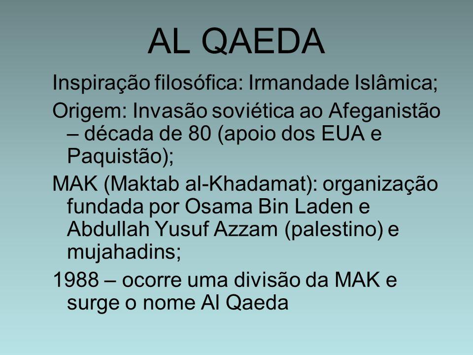 AL QAEDA Inspiração filosófica: Irmandade Islâmica;