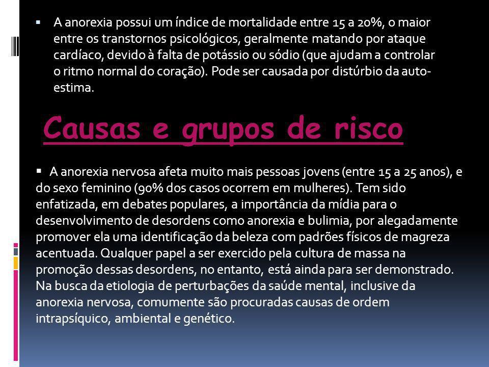 Causas e grupos de risco