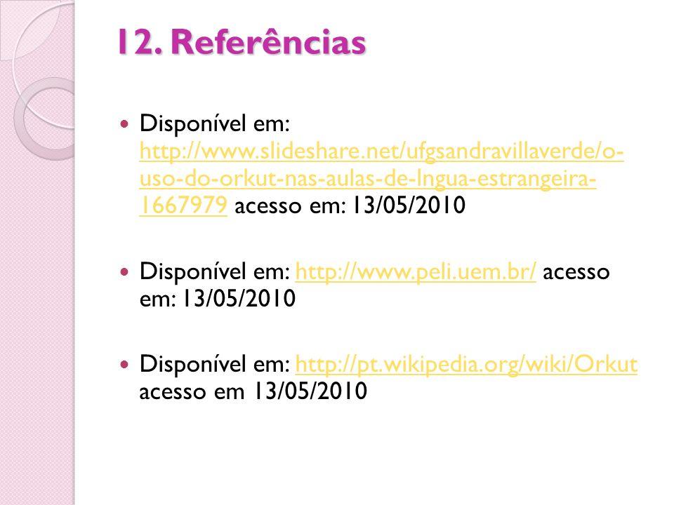 12. Referências
