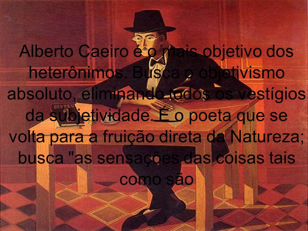 Alberto Caeiro é o mais objetivo dos heterônimos