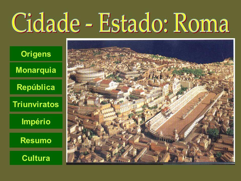 Cidade - Estado: Roma Origens Monarquia República Triunviratos Império