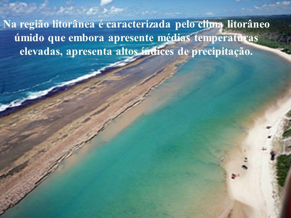 Na região litorânea é caracterizada pelo clima litorâneo