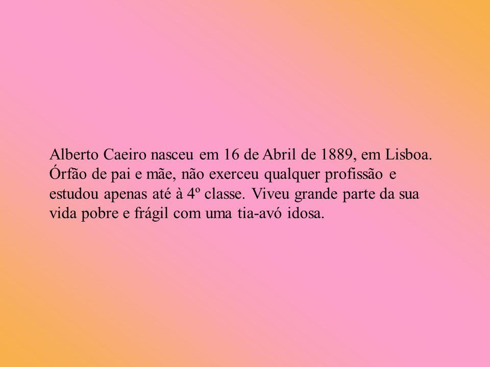 Alberto Caeiro nasceu em 16 de Abril de 1889, em Lisboa