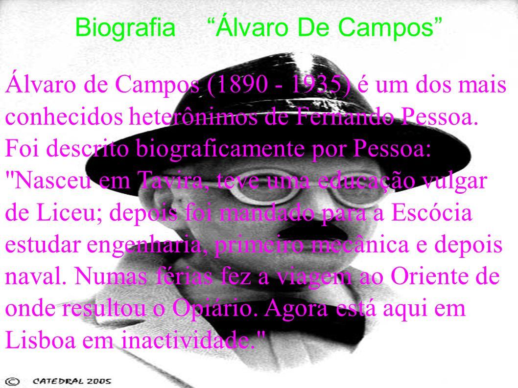 Biografia Álvaro De Campos