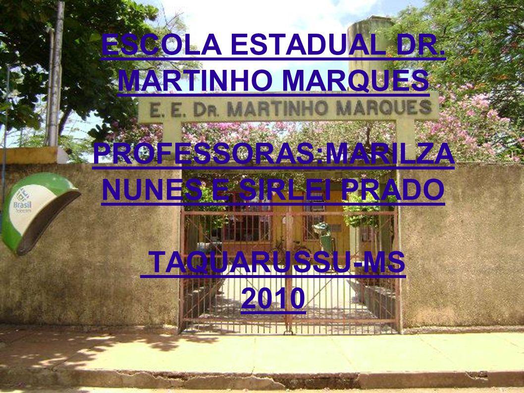 ESCOLA ESTADUAL DR. MARTINHO MARQUES PROFESSORAS:MARILZA NUNES E SIRLEI PRADO TAQUARUSSU-MS 2010