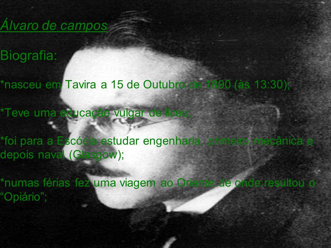 Álvaro de campos Biografia: