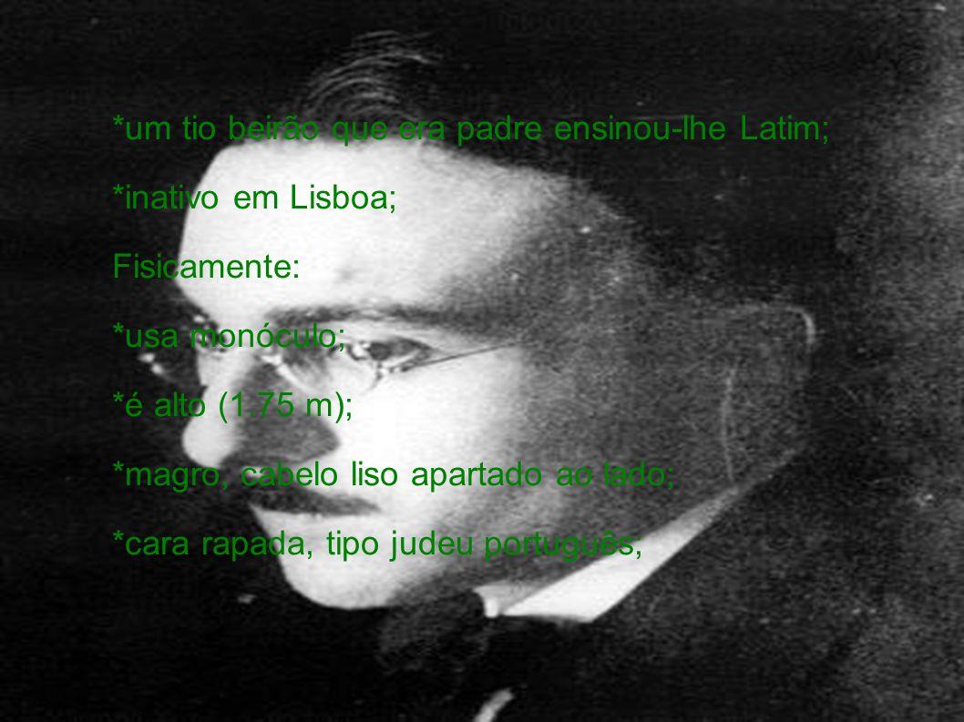 *um tio beirão que era padre ensinou-lhe Latim;