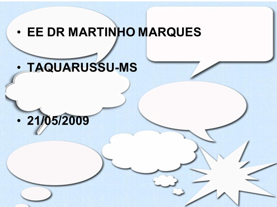 EE DR MARTINHO MARQUES TAQUARUSSU-MS 21/05/2009