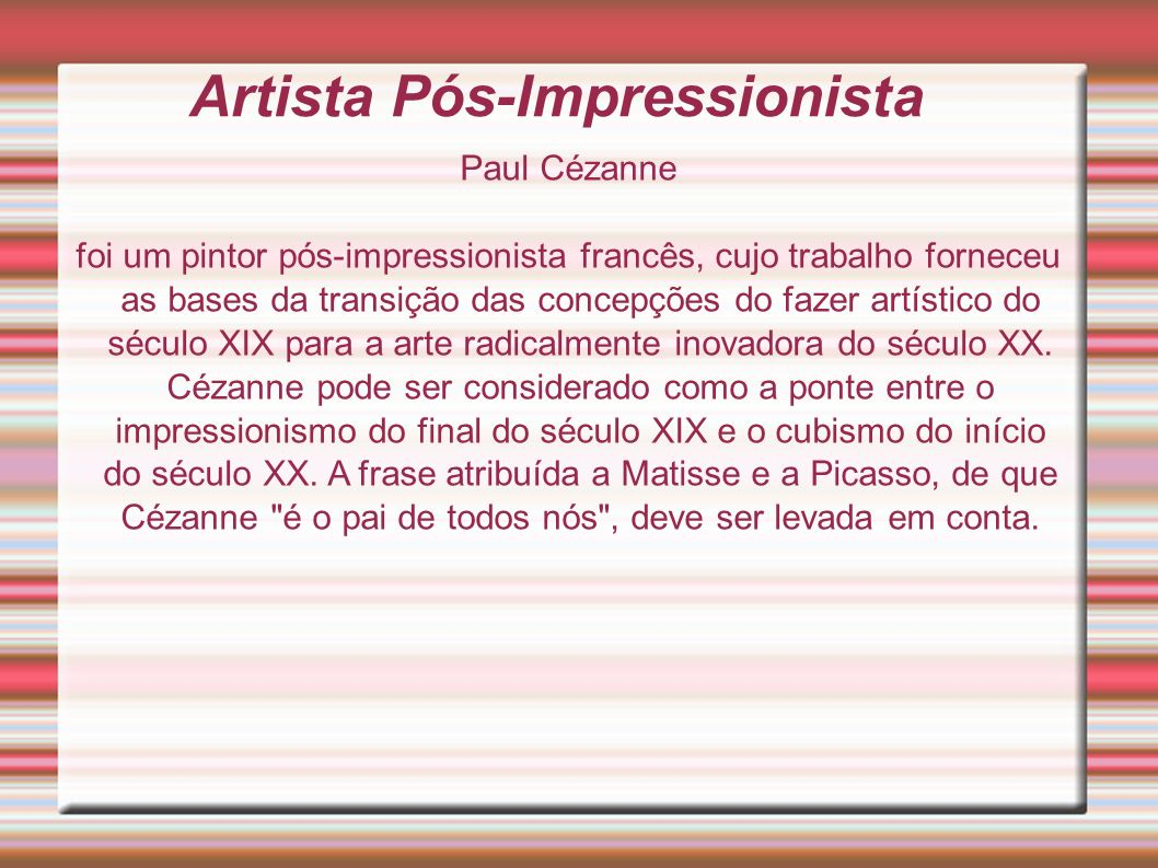 Artista Pós-Impressionista