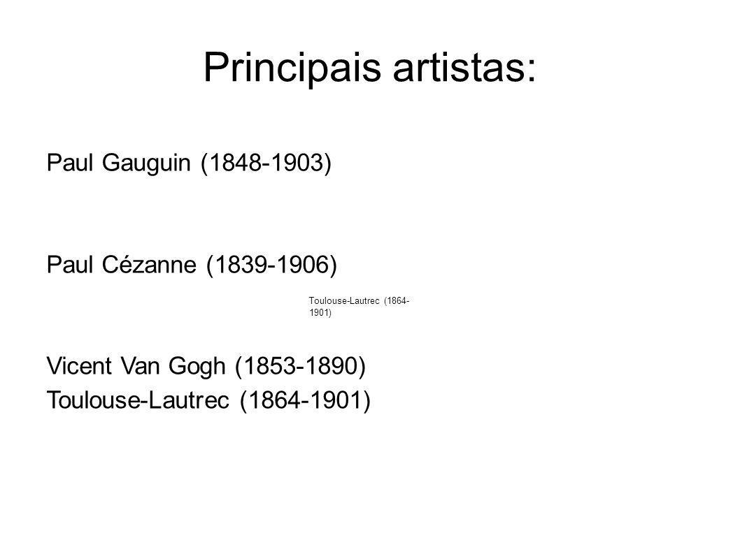 Principais artistas: Paul Gauguin (1848-1903)