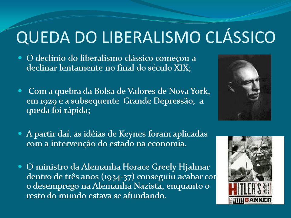 QUEDA DO LIBERALISMO CLÁSSICO
