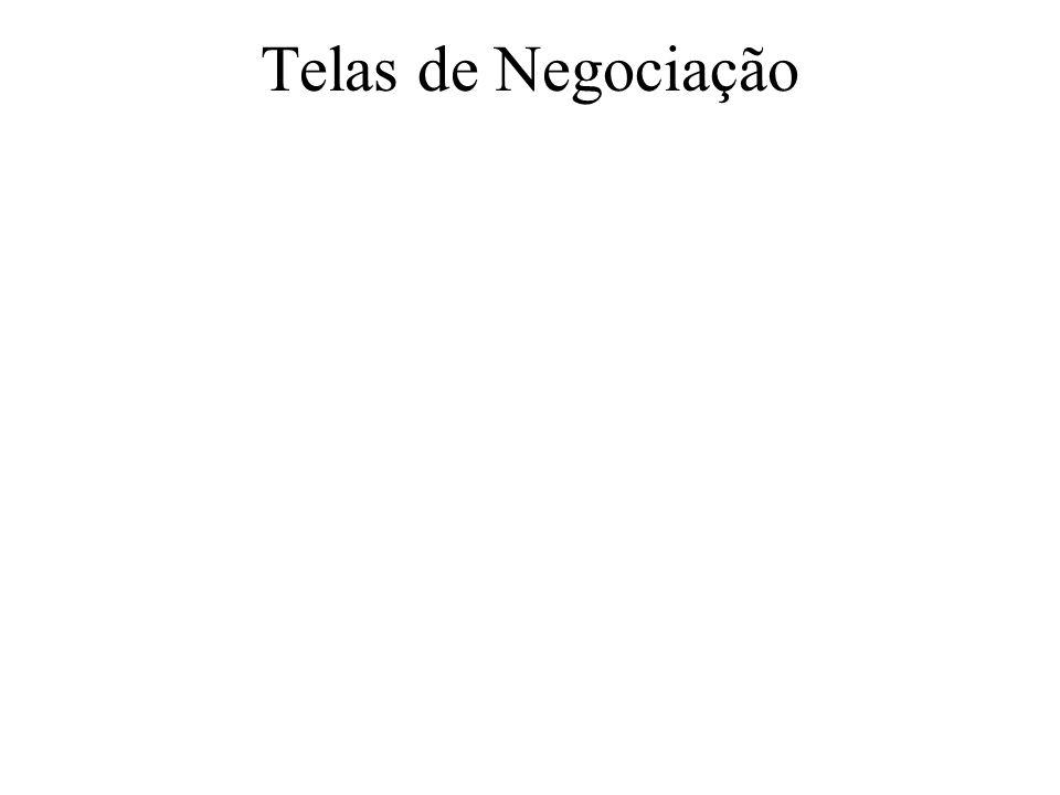 Telas de Negociação
