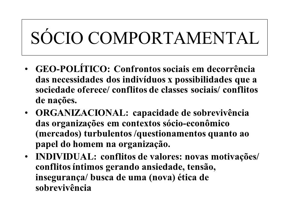 SÓCIO COMPORTAMENTAL