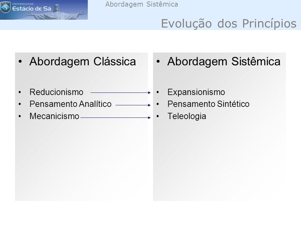 Abordagem Sistêmica Evolução dos Princípios