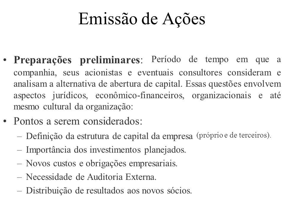 Emissão de Ações