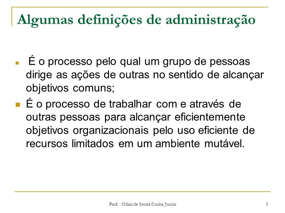 Algumas definições de administração