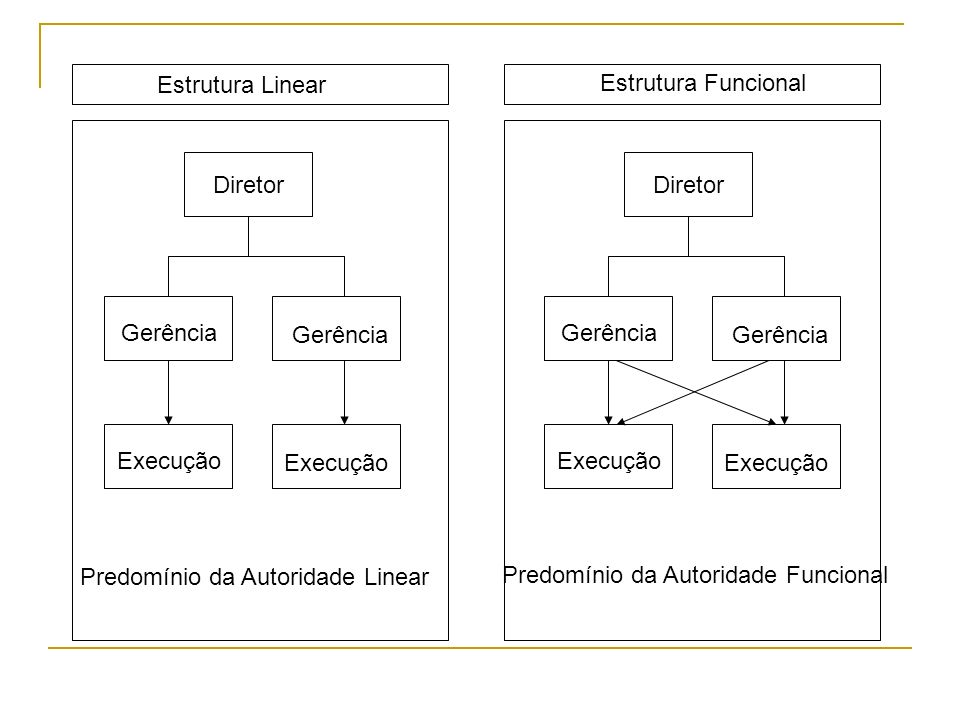 Predomínio da Autoridade Linear Predomínio da Autoridade Funcional