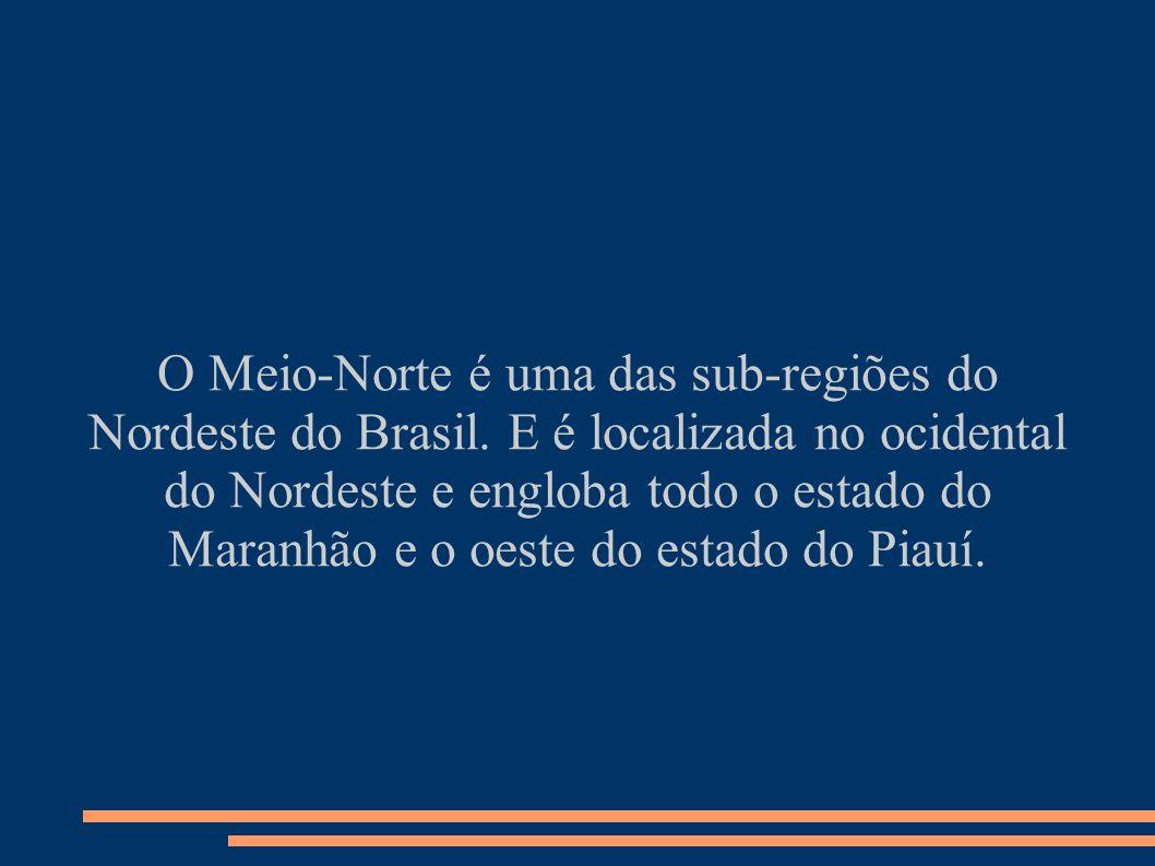 O Meio-Norte é uma das sub-regiões do Nordeste do Brasil