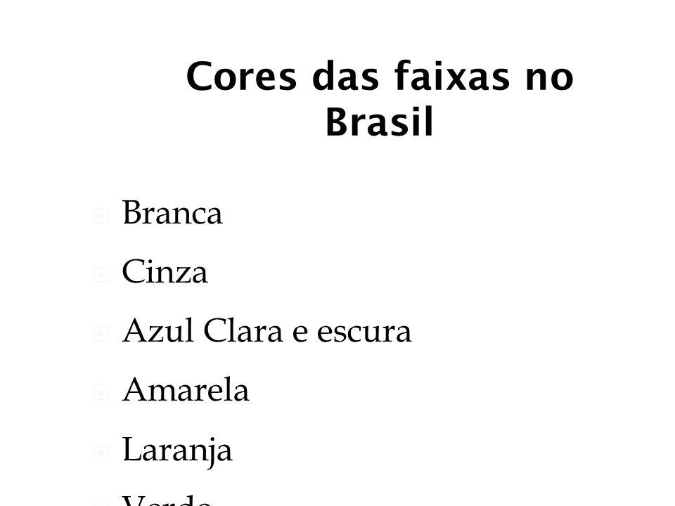 Cores das faixas no Brasil