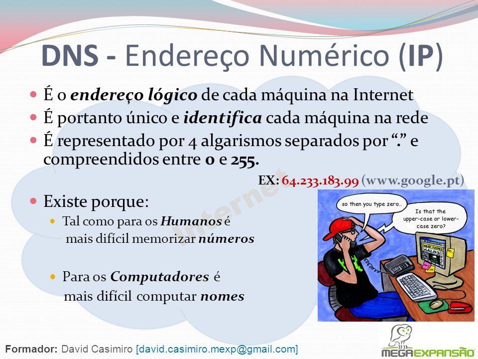 DNS - Endereço Numérico (IP)