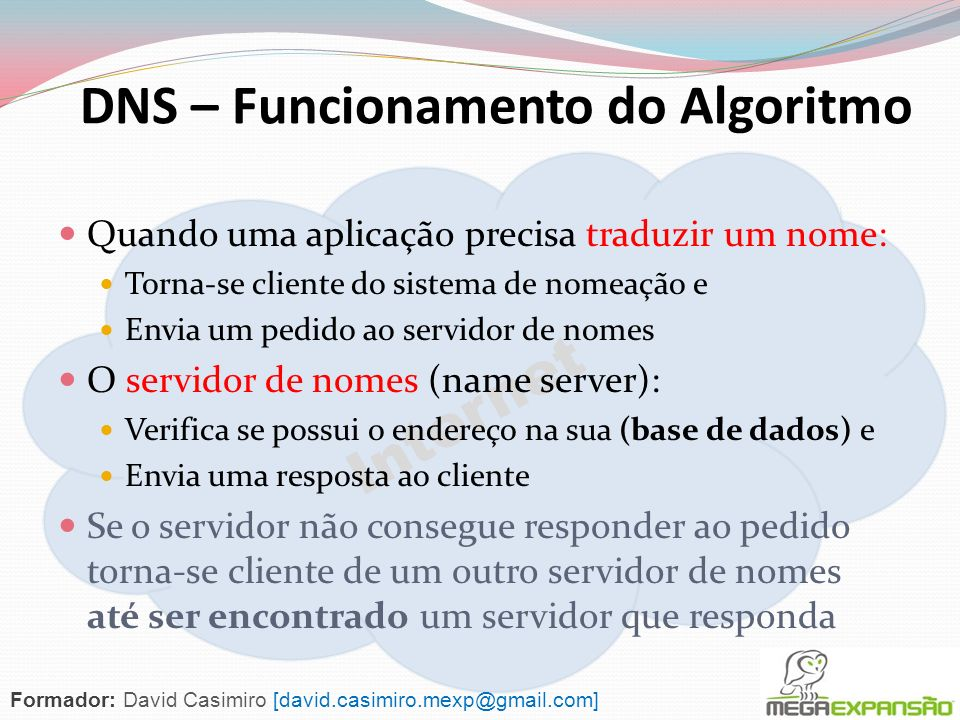 DNS – Funcionamento do Algoritmo