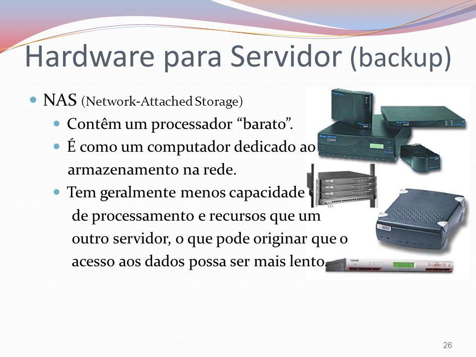 Hardware para Servidor (backup)